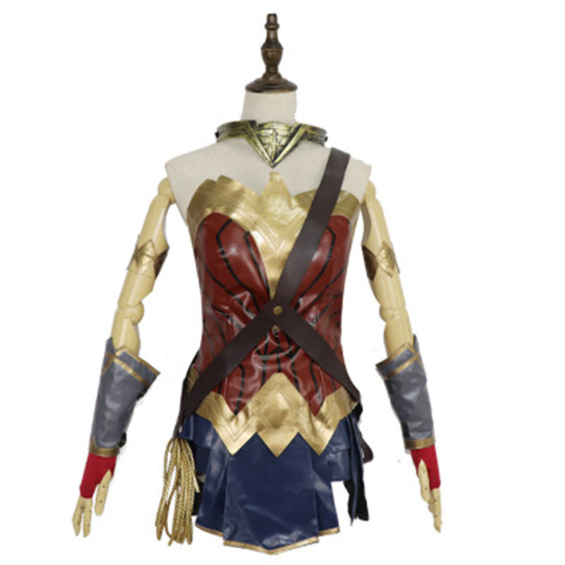 HISTOYE The Film Wonder Woman <font><b>Costume</b></font> Justice League Diana Prince Superhero Cosplay <font><b>Halloween</b></font> <font><b>Costume</b></font> For <font><b>Women</b></font> <font><b>Sexy</b></font> Dress image