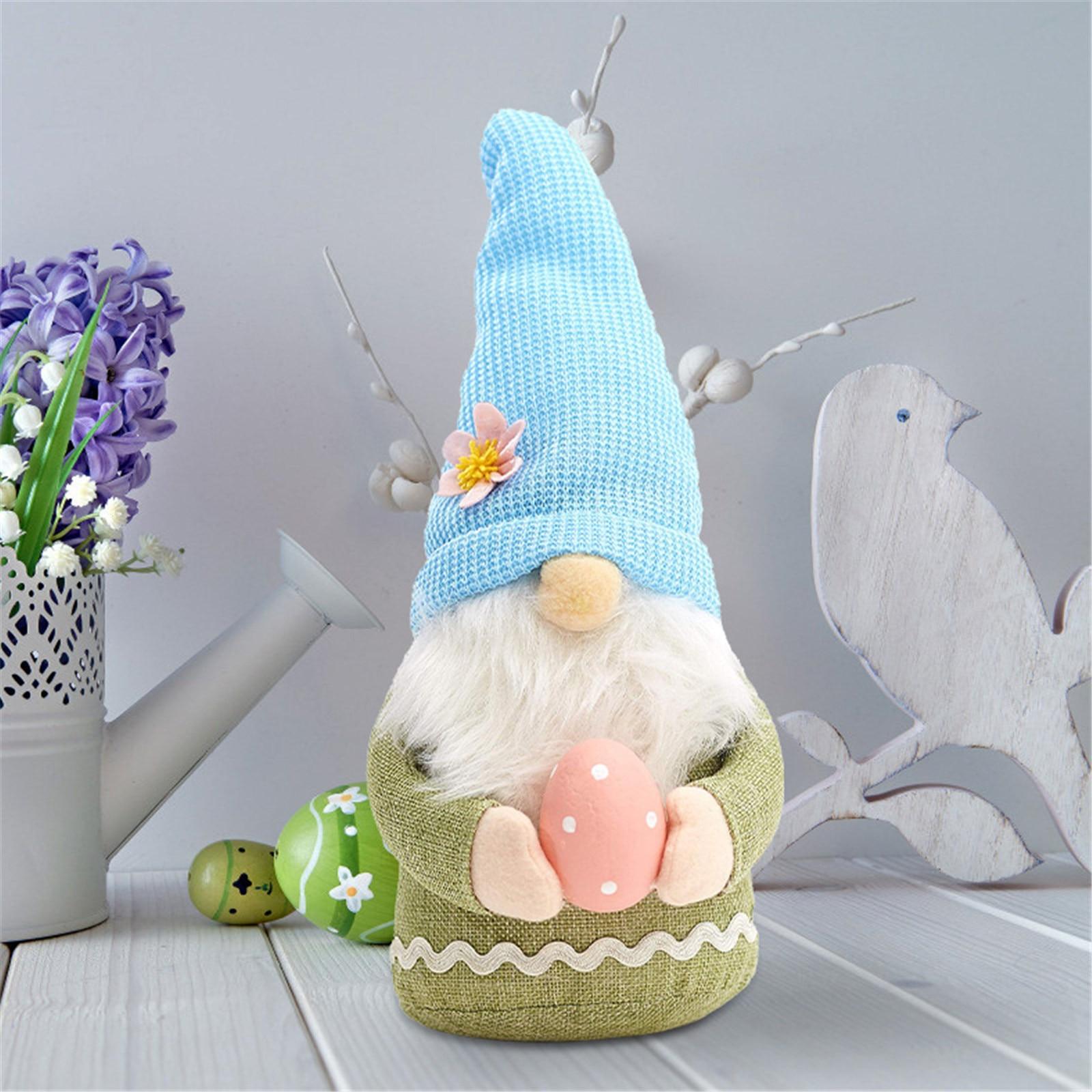 Пасхальная Коллекционная кукла гнома, Шведский гном, плюшевый кролик Tomte ручной работы, домашнее праздничное украшение, весеннее украшение,...