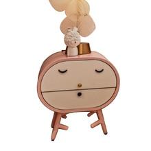 Креативная прикроватная тумбочка для девочек, мультяшный милый модный детский прикроватный шкаф, розовый прикроватный шкаф для спальни из цельного дерева, декоративный шкаф