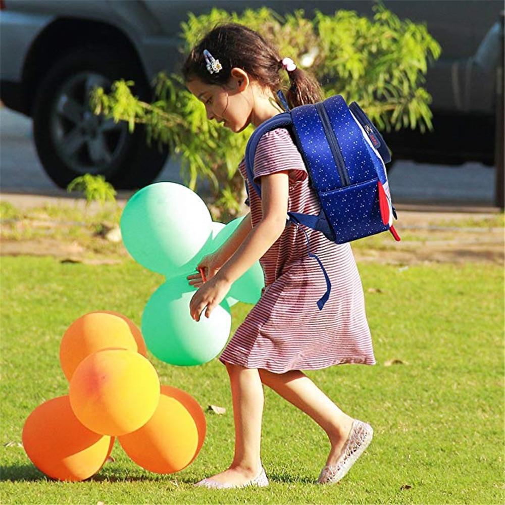 Backpacks anti loss rope rocket lost bag School Bags Girls Cartoon Children Boys Kindergarten blue purple Adjustable softer in Plush Backpacks from Toys Hobbies