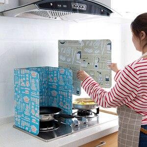 2 шт. утолщенная алюминиевая фольга печатная плита масляная перегородка Складная кухонная сковорода защита от брызг масла экран Kichen аксесс...