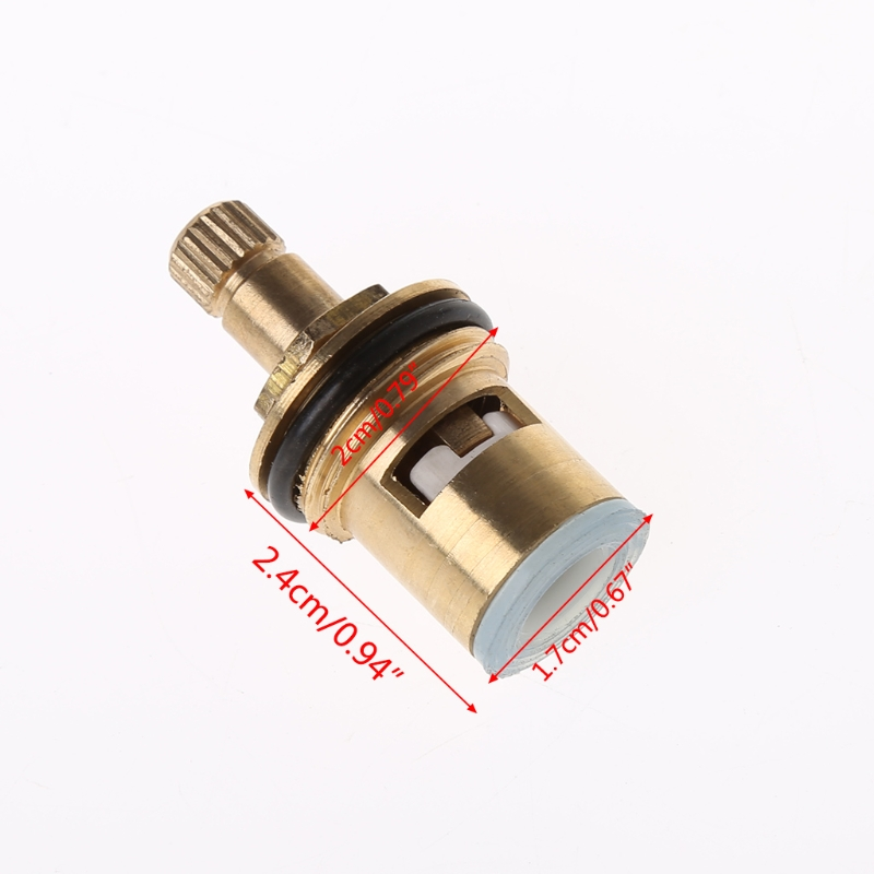 2 Pcs Faucet Replacement Brass 1/4 Turn G1/2\