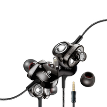 Three Dynamic circle six unit in-ear HI FI mobile phone Headset With M