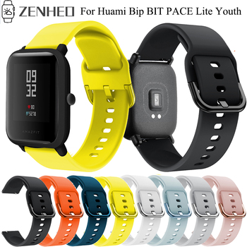 20mm Silicone Strap For Xiaomi Huami Amazfit BIP BIT Lite Youth Smart Watch Band Sport Wrist Watchband - discount item  27% OFF Watches Accessories