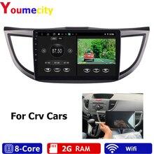 Auto Radio Multimedia Video Dvd Gps Speler Voor Honda Crv 2/3/4 2012 2013 2014 2015 Met Usb Bt rds Kaart/8 Cores/Android 9.0