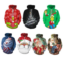 2020 Autumn and Winter Merry Christmas Hoodies & Sweatshirts Decoration Children &Kids Christmas Family Casual Polyester Hoodies