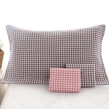 купить 2 Pcs Pure Cotton Gauze Pillow Towel Adult Couples Male and Female Students Breathable Comfortable Cotton Pillow Towel дешево