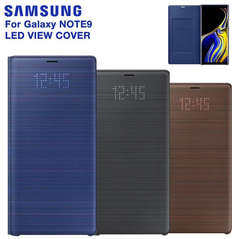 SAMSUNG Original LED vue couverture Smart couverture téléphone étui pour SAMSUNG Galaxy Note 9 Note9 SM-N9600 N9600 Original téléphone couverture