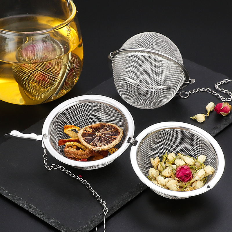 304 Stainless Steel Tea Infuser Sphere Locking Spice Ball Strainer Mesh Infuser Tea Filter Strainers Kitchen Accessories