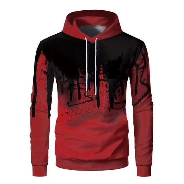 3D Printed Ink Sweatshirt Casual Hooded Pullover 3