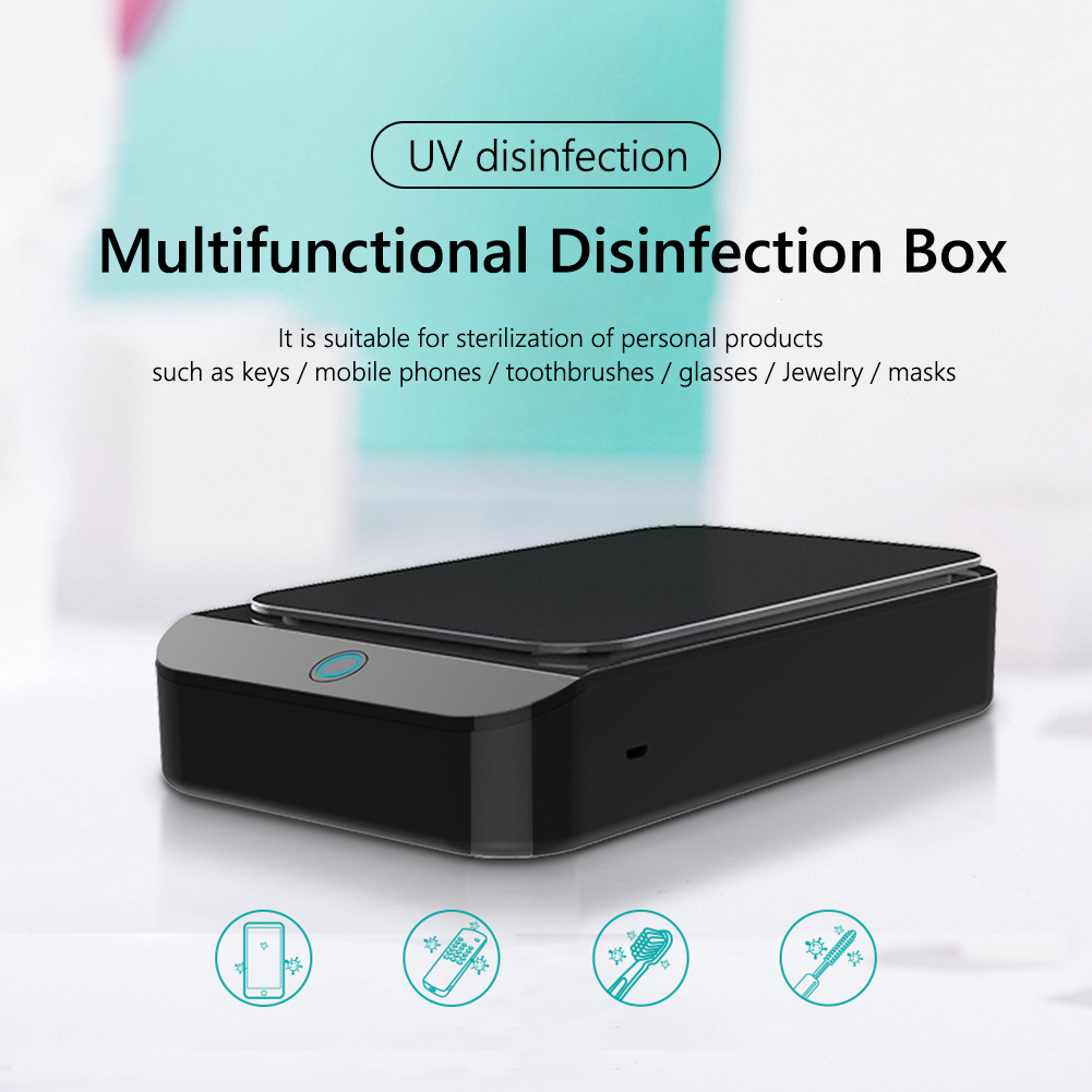 5V UV Phone Sterilizer Box Jewelry Cleaner Disinfection Box Toothbrush Masks Watch Car Keys Cleaner Sanitizer Disinfector Box