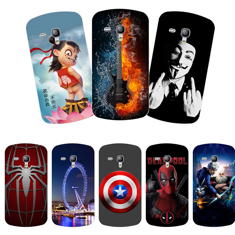 Soft silicone Phone Case for Samsung Galaxy S3 Mini /S3Mini GT-i8190 i8200 Phone Case Back Cover Print painting Flower style image