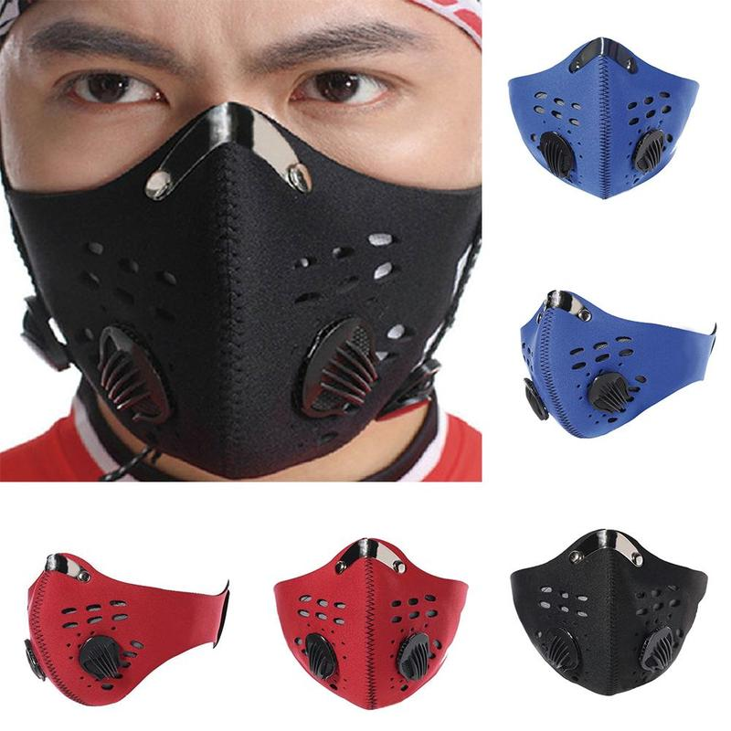Activated Carbon Dustproof Mask PM2.5 Anti-pollution Anti Dust Bike Outdoor Cycling Half Face Mask With