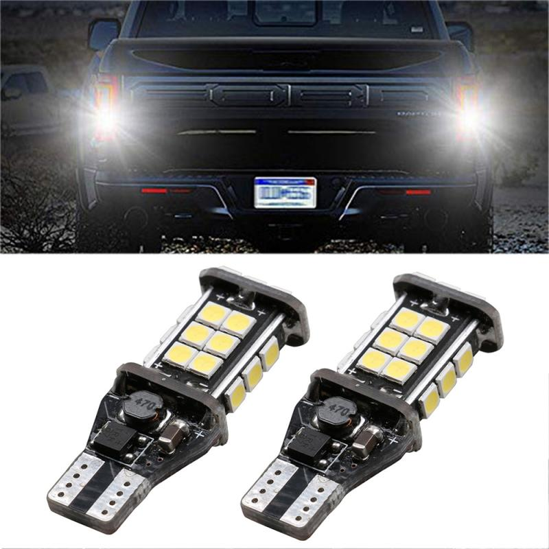 2PCS T15 W16W Super Bright 1200Lm 3030 24SMD CANBUS Car Backup Reserve Lights Bulb Tail Lamp Signal Light Car Accessories