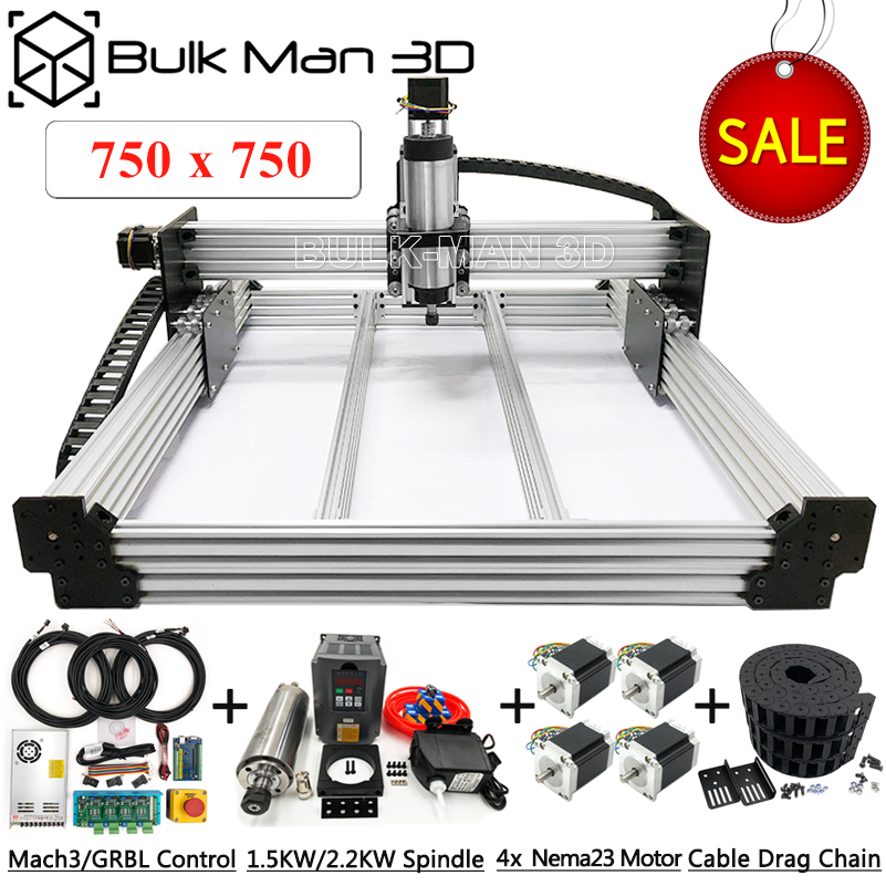 7575 WorkBee CNC Router Machine Full Kit 4 Axis USB Port Auto CNC Milling Carving Machinery Computer Numerical Control Machine