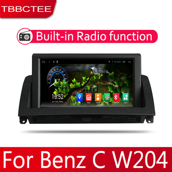 2din Car multimedia Android Autoradio Car Radio GPS player For Mecerdes Benz C W204 2007~2011 Bluetooth WiFi Mirror link Navi image