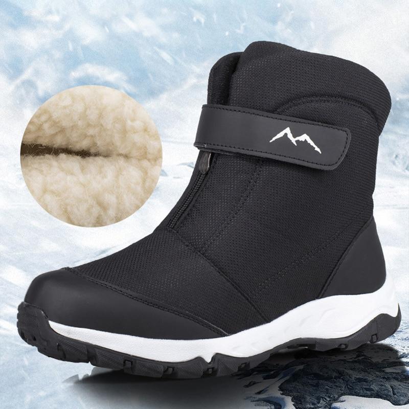 Winter Boots Men High-top Water-resistant Cotton Shoes Male Plus Velvet Warm Couple Snow Boots Northeast Outdoor Casual Shoes