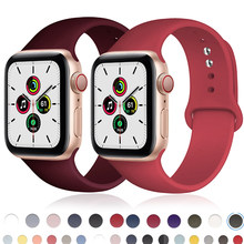 Slicone pulseira de relógio para apple pulseira 44mm 40mm iwatch banda 42mm 38mm esporte cinto pulseira apple assistir banda série 3 4 5 se 6
