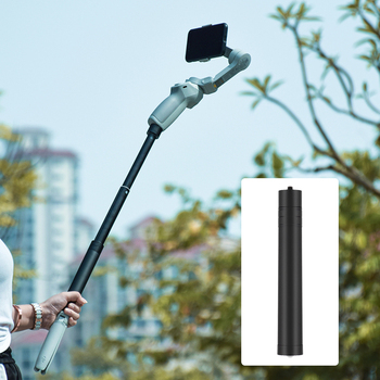 Telescopic Extension Rod Pole Selfie Stick for DJI OSMO Mobile 2 3 OM 4 FeiYu Zhiyun Smooth Moza Mini isteady Gimbal Accessories