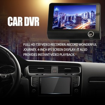 4 Inch 3 Lens 1080P Car DVR Camera Video Driving Recorder With Night Vision