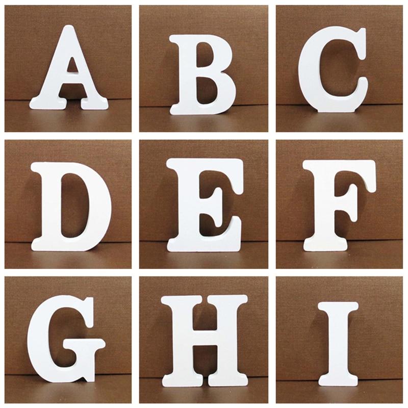 8 см деревянные буквы цифры 3D Алфавит DIY персонализированное имя дизайн дерево ремесло декорацион украшение дома вечерние принадлежности