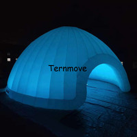 dome inflatable tent with 2 doors, led light inflatable dome tent, dome tent for booth or part / functional convenient toy tent