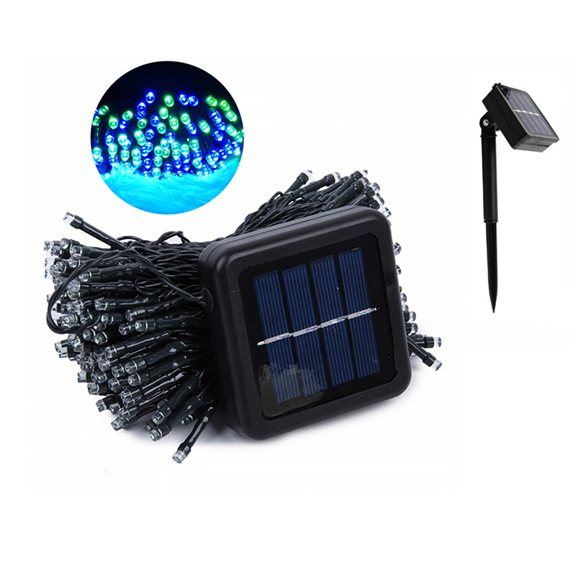 LED Outdoor Solar Lamp LEDs String Lights Fairy Holiday Christmas Party Garland Solar Garden Waterproof Lights Cheap Solar Lamps