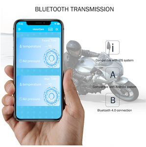 Image 2 - Zeepin V100B TPMS Bluetooth Tire Pressure Monitoring System APP Mode 2PCS External Sensors For Motorcycles