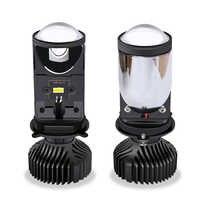 2pcs 90 w/Pair lampada H4 ha condotto il Mini Bi led lente Del Proiettore Del Faro Dell'automobile 14000LM lampada led h4 Hi/ basso del Fascio Luci Canbus 12v 24V Lampadina