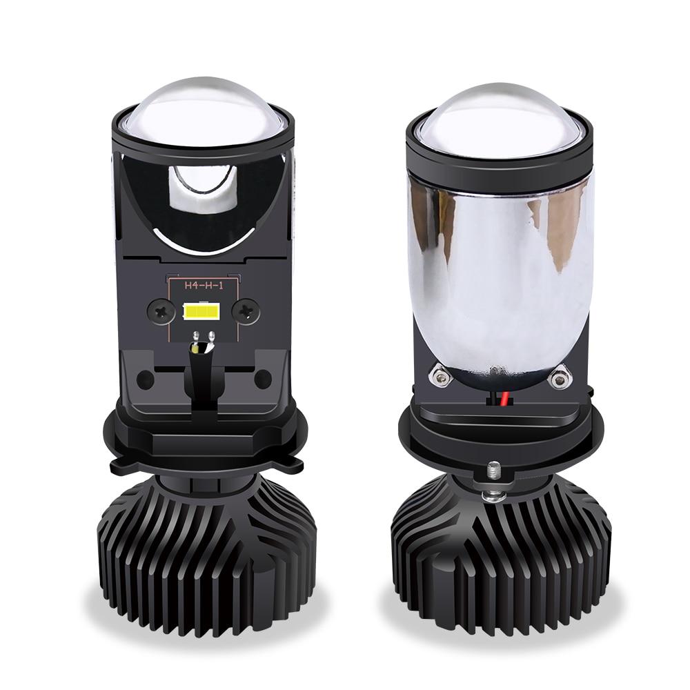 2pcs 90w/Pair Lamp H4 Led Mini Bi Led Lens Projector Car Headlight 14000LM Lampada Led H4 Hi/Low Beam Lights Canbus 12v 24V Bulb