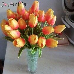 10 sztuk sztuczne kwiaty ogrodowe tulipany Tulipan dla domu ślub Mariage sztuczne kwiaty do dekoracji prawdziwy w dotyku kwiat tulpa bukiet