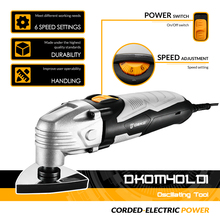 DEKO New 220V DKOM40LD1/2  Variable Speed Electric Multifunction Oscillating Tool Electric Trimmer Saw with Accessories