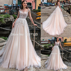 Tulle A Line Wedding...