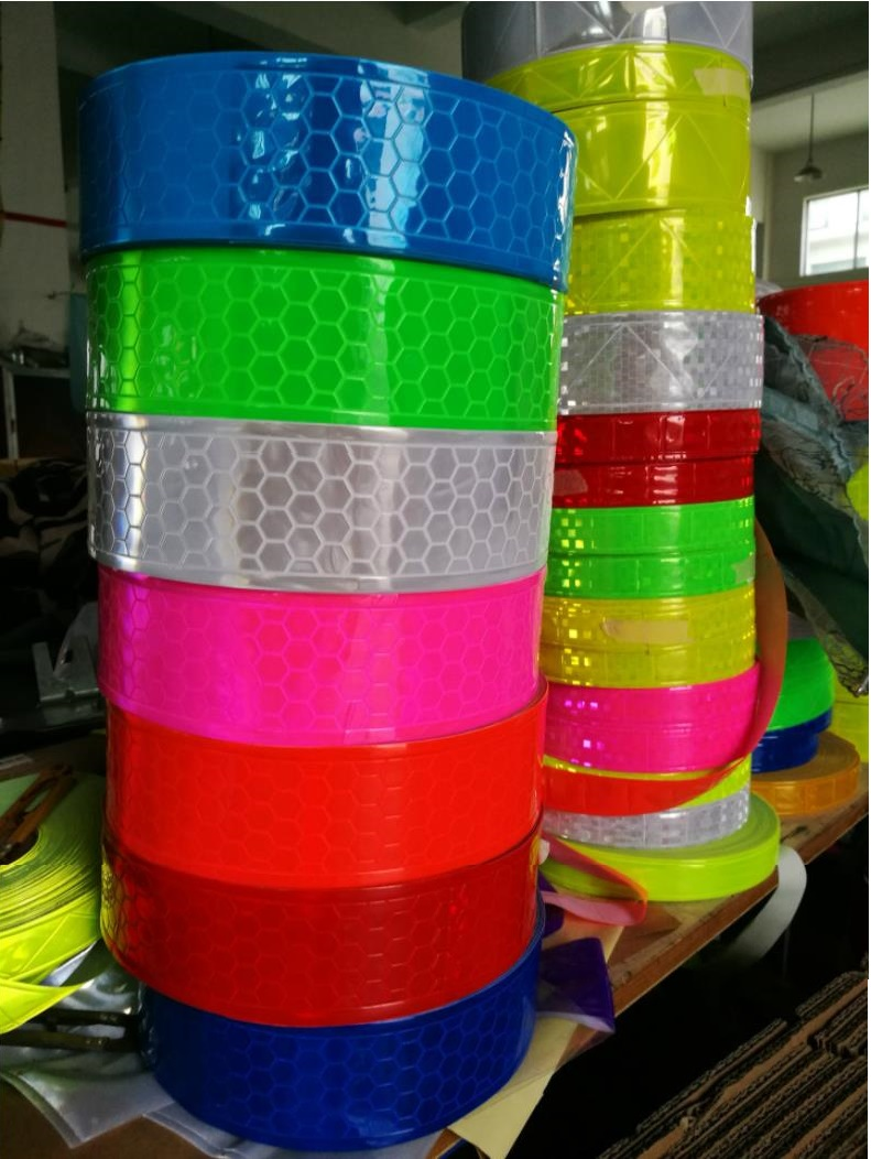 Customized Produce 5CM High Light Multi-Model Warning Reflective PVC Tape For The Clothing Multicolor