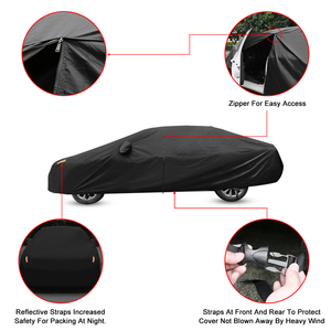 Image 3 - X Autohaux Universele Full Car Cover Indoor Outdoor Auto Covers Sneeuw Ijs Waterdichte Stof Zon Uv Shade Cover Auto reflector