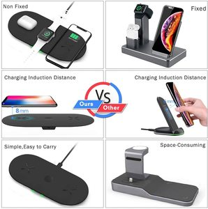 Image 5 - Phone Battery Charger 3 in 1 Qi Wireless Charger 10W Induction Stand Wireless Charging Pad Holders For iPhone 11 12 Pro  Airpods