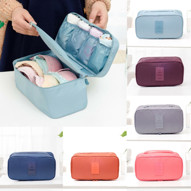 Bag Box Organizer Underwear Storage-Bag Toiletry Travel Cosmetic-Case Bra Oxford