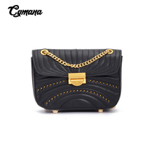 Genuine Leather Cross Body Bag Women Purse For Lady 2019 Shoulder Bag Women Chain Bags Female Phone Bags Chain Flap Handbag цена 2017
