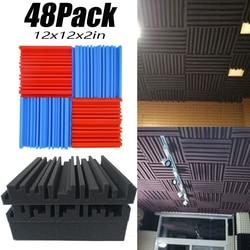 Estudio de grabación de espuma acústica de 48 canales, tratamiento de sonido en vivo, paneles de insonorización para techo, baldosas de absorción de sonido ignífugas de 2