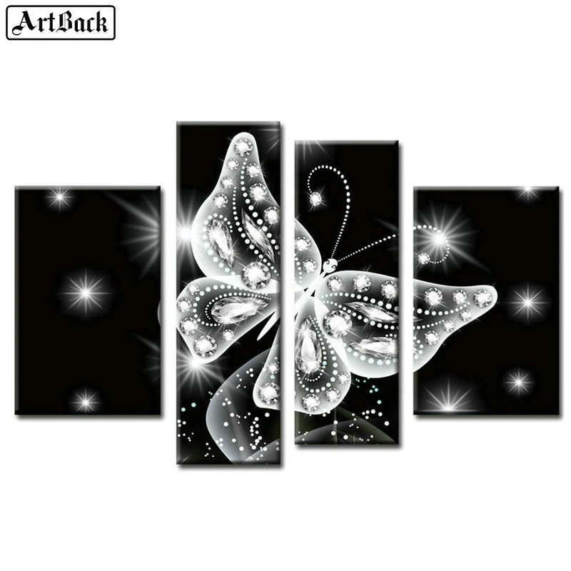 5d diamond painting butterfly crystal icon full square / round drill animal decorative painting diamond mosaic sticker crafts