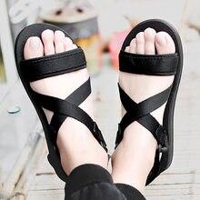 Мужские сандалии без застежки коричневые дышащие гладиаторы