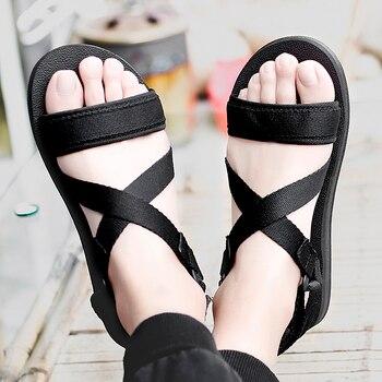 Sandalias para Hombre informales transpirables estilo Gladiador, zapatos de verano, calzado abierto,...