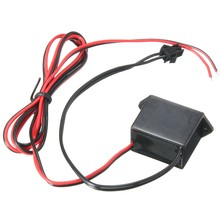 Controlador de potência de fio, 2x mini controle flexível neon el dc12v para 1-10m led inversor de luz adaptador de fornecimento neon driver de fio