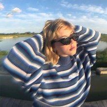 Женский свитер с длинным рукавом водолазка контрастных цветов