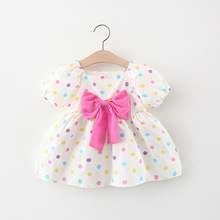 Summer Newborn Baby Girl Clothes Print Dot Dress for Girls Baby Clothing 0-2 year Cute Birthday Princess Toddler Dresses Vestido