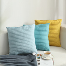 Modern Simple Nordic Velvet Pillow Cover Vertical Terms Cushion For Sofa Decoration