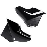 Motorcycle Pair Black Side Panel Battery Cover For Yamaha YBR 125 2005 2009 Plastic Motorbike Left & Right Battery Cover