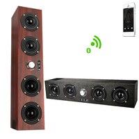 Bluetooth Speaker 20W Portable Column Wireless Column Loudspeaker Support TF Card FM Radio Aux Subwoofer Soundbar for Com
