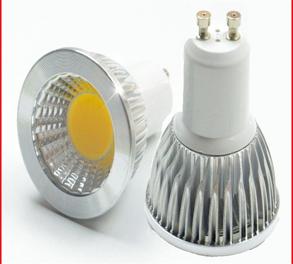 LED très brillante projecteur ampoule GU10Light Dimmable Led 110V 220V AC 6W 9W 12W LED GU5.3 GU10 COB lampe à LED lumière GU 10 led GU5.3