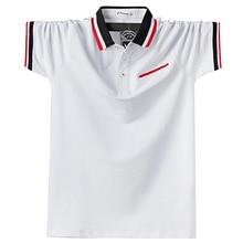 2020 קיץ גברים חולצת פולו Mens קלאסי גדול גודל M 6xl פולו חולצות קצר שרוול כותנה Polos גברים מקרית חולצה להאריך ימים יותר בגדים